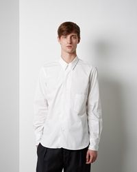 Christophe Lemaire Detachable Collar Shirt Chalk