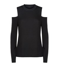 Elie Tahari Agnes Cold Shoulder Top Female Black
