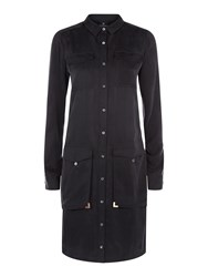 Victorinox Sophie Silk Shirt Dress Black