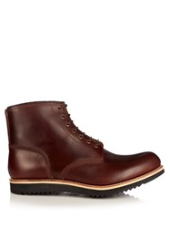Grenson Dawson Leather Ankle Boots Brown