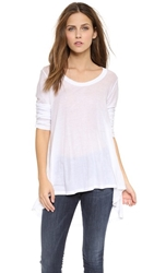 Wilt Hi Lo Tunic With Long Sleeves White