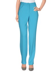 Andrea Incontri Trousers Casual Trousers Women Turquoise