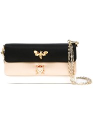 Dolce And Gabbana Embellished Panelled Shoulder Bag Black