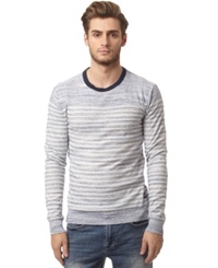Buffalo David Bitton Heathered Stripe Sweater Whale Combo