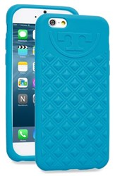 Tory Burch 'Marion' Quilted Silicone Iphone 6 And 6S Case Blue