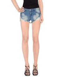 Reverse Denim Denim Shorts Women Blue