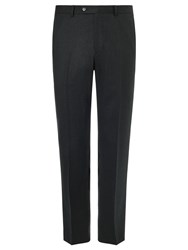 John Lewis Wool Flannel Puppytooth Tailored Suit Trousers Charcoal