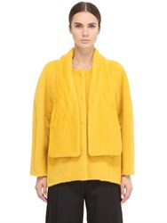 Space Style Concept Mohair Wool Blend Coat