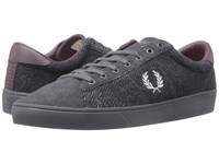 Fred Perry Spencer Tweed Suede Charcoal Dolphin Men's Shoes Gray