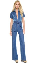 Stoned Immaculate Blue Jean Baby Jumpsuit