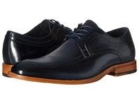 Stacy Adams Dwight Moc Toe Oxford Navy Men's Lace Up Moc Toe Shoes