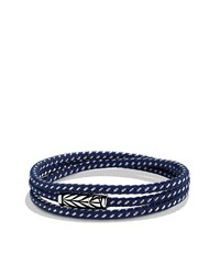Chevron Triple Wrap Bracelet In Blue David Yurman