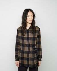 3.1 Phillip Lim Belted Flannel Shirt Black