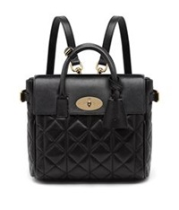 Mulberry Cara Mini Quilted Nappa Backpack Black