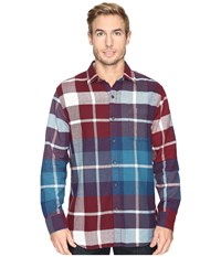 Tommy Bahama Acai Flannel Long Sleeve Woven Shirt Aged Claret Men's Long Sleeve Button Up Brown