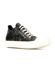 Rick Owens Drkshdw Shiny Lace Up Sneakers Black