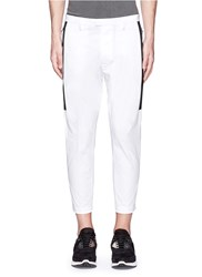 Dsquared 'Hockney' Tape Side Stripe Cotton Twill Pants White