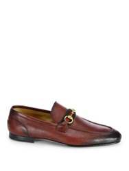 Gucci Leather Horsebit Loafers Cherry Red Black