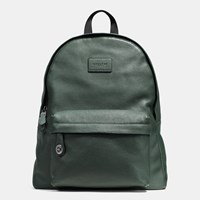 Coach Campus Backpack In Pebble Leather Black Antique Nickel Racing Gre