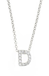 Bony Levy Women's Pave Diamond Initial Pendant Necklace Nordstrom Exclusive White Gold D