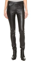 Zadig And Voltaire Pharel Deluxe Leather Leggings Noir