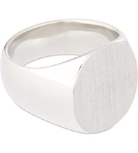 Tom Wood Oval Satin Silver Ring