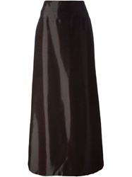 Jean Louis Scherrer Vintage High Shine Long Skirt Red