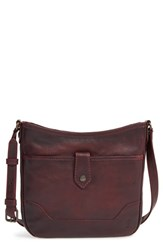 Frye 'Melissa Button' Crossbody Bag Burgundy Wine