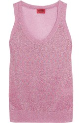Missoni Metallic Crochet Knit Tank Pink