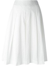 Cacharel Pleated Eyelet Skirt White