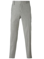 Bally Checked Tailored Trousers Black