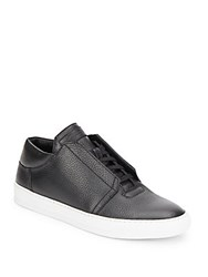 Helmut Lang Pebbled Leather Sneakers Optic White