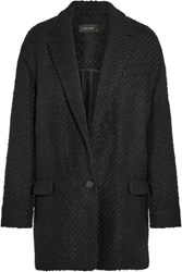 Isabel Marant Ilaria Oversized Wool Blend Boucle Tweed Jacket Black