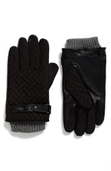 Ted Baker Men's London Ahmet Quilted Leather Gloves