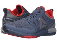 Reebok Zprint 3D Royal Slate Coal Flat Grey Riot Red Pewter Men's Running Shoes Blue