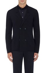 P Johnson Men's Knit Double Breasted Cardigan Navy