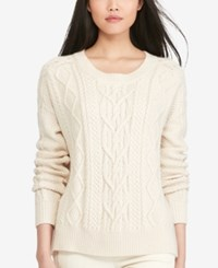 Polo Ralph Lauren Aran Knit Crew Neck Sweater Cream