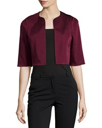 Zac Zac Posen Cropped Half Sleeve Jacket Red Wine