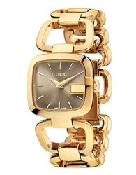 Gucci Ladies Small Gold Square Bracelet Watch