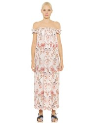 Mother Of Pearl Lydia Flamingo Silk Georgette Dress