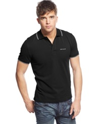 Armani Jeans Tipped Polo Black White