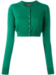Dolce And Gabbana Cropped Cardigan Green