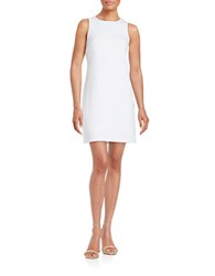 Design Lab Lord And Taylor Textured Shift Dress White