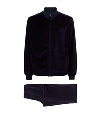 Paul And Shark Velour Tracksuit 2 Piece Male Navy