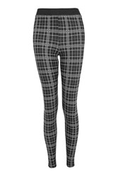 Topshop Check Leggings Monochrome