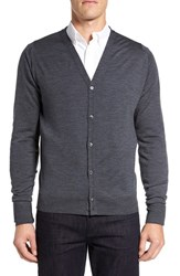 John Smedley Men's 'Bryn' Easy Fit Wool Button Cardigan Charcoal