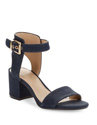 424 Fifth Harriet Open Toe Sandals Indigo Denim