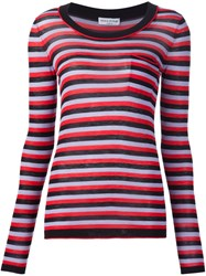 Sonia Rykiel Striped Scoop Neck Sweater Black