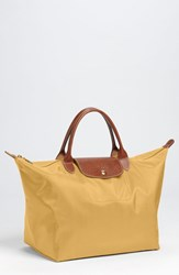 Longchamp 'Medium Le Pliage' Tote Yellow Curry