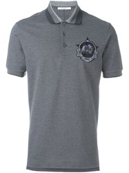 Givenchy Chest Patch Polo Shirt Grey